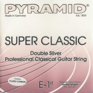 "Pyramid Super Classic ""Double Silver"" Carbon szett, medium tension"