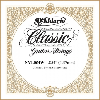 D'Addario NYL054W Single Silver Wound .054""